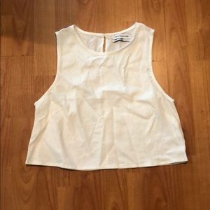 NWOT Urban Outfitters white linen crop top